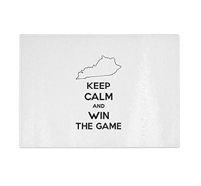Kentucky Keep Calm And Win The Game Kitchen Bar Glass Cutting Board