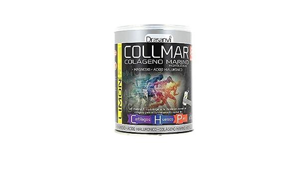 Collmar, colágeno marino hidrolizado con magnesio y ácido hialurónico para cartilagos, huesos y piel 300g sabor limón: Amazon.es: Salud y cuidado personal