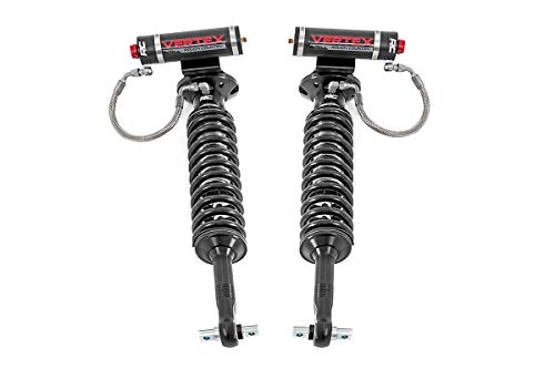 Rough Country Front Adjustable Vertex Coilovers Compatible w/ 2007-2018 Chevy Silverado GMC Sierra 1500 w/ 6-7.5