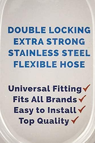 in acciaio INOX di alta qualit/à Ocean-Flo Essential Range doppio bloccaggio montaggio universale ad alta pressione dellacqua Tubo per doccia da 1,5 m 1,5 m