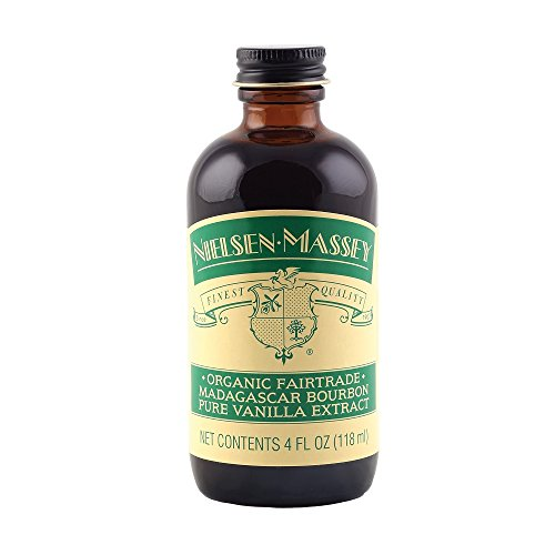 Nielsen-Massey Organic Fairtrade Madagascar Bourbon Pure Vanilla Extract, 4 FL OZ Bourbon Vanilla Extract
