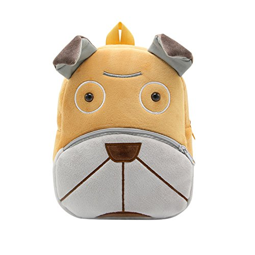 MSOO Textured Children Baby Girls Boys Kids Cute Cartoon Animal Backpack Toddler School Bag (J)