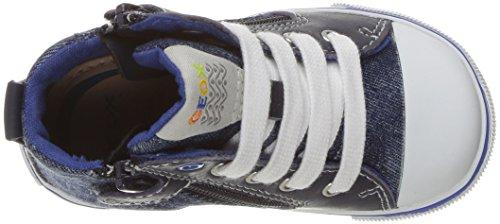Geox B Kilwi Boy, Zapatillas Altas para Bebés Azul (Navy/Royal C4226)