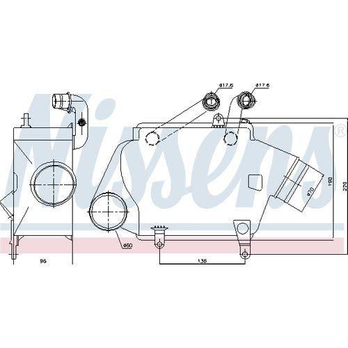 Nissens 961205 Turbo Intercooler: