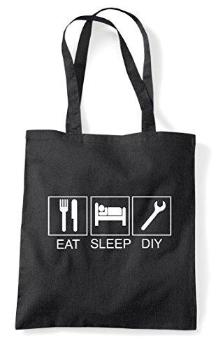 Sleep Shopper Diy Funny Tote Hobby Activity Eat Black Bag Tiles vS7BBq