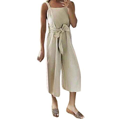 Italily Pantaloni Fusciacche donne Monopezzi Shorts Tracolla Nove tuta Eleganti Bodycon Tutine Playsuit Tuta Arco Dolce Cachi Larghi Allacciare Mare Donna Mini LqzUGSpjMV