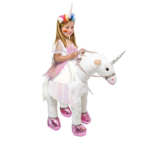 Best Horse And Rider Halloween Costumes (Kids Ride On Costume Unicorn T-Rex Horse Animal Halloween Cosplay Outfit (Unicorn, 4-6)