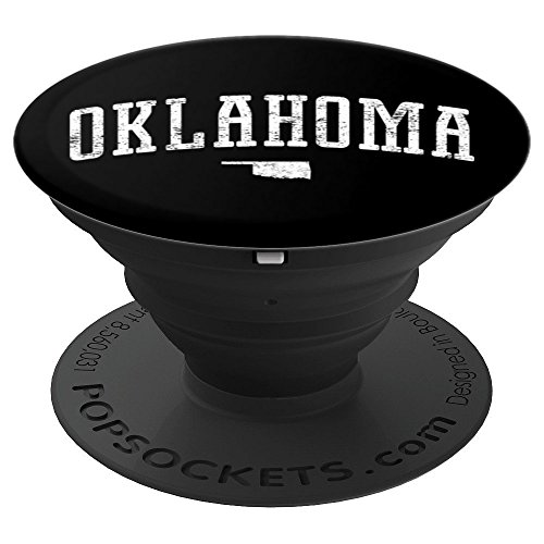 (Oklahoma Silhouette State Vintage - PopSockets Grip and Stand for Phones and Tablets)