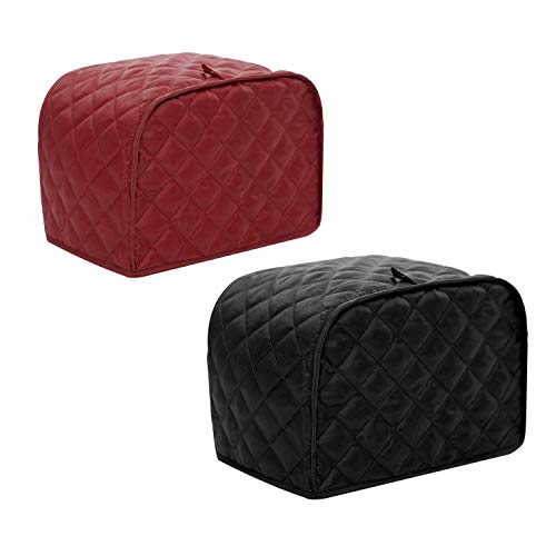 Toaster Cover, Polyester Fabric Quilted Four Slice Toaster Appliance Dust-proof Cover For Kitchen Small Appliance Dust…