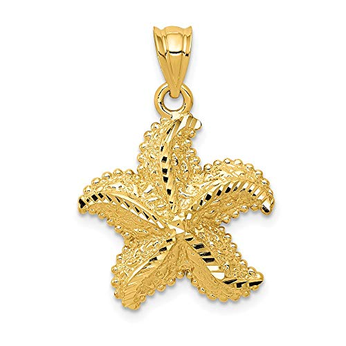 - 14k Polished Open-Backed Starfish Pendant