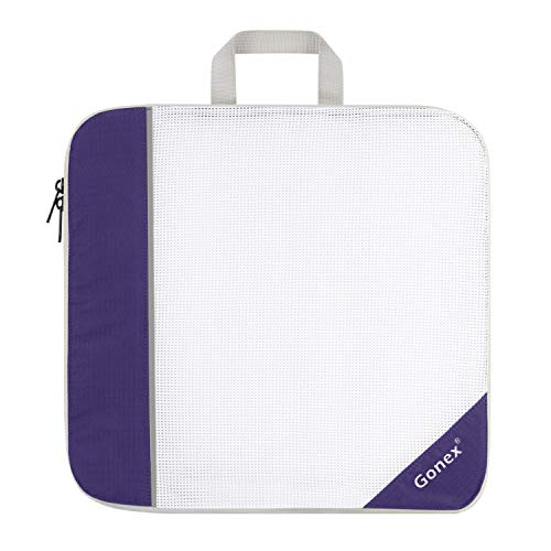 Packing Cube, Extensible Storage Mesh Bag Travel Organizer Large Purple