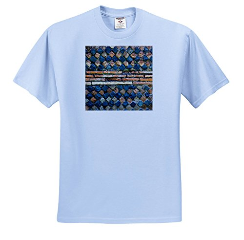 3dRose Danita Delimont - Patterns - Ancient Roman Stone Wall, ostia Antica Ruins, Rome, Italy. - T-Shirts - Toddler Light-Blue-T-Shirt (4T) (Rome Five Light)