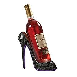 Eight24hours High Heel Shoe Wine Bottle Holder For Stylish Wine Gift Baskets - Black + FREE E-Book