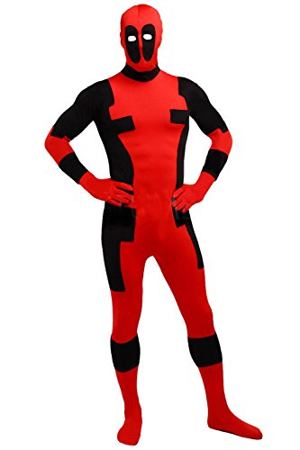 AOVEI Halloween Jumpsuit Cosplay Costume for Lady Full Bodysuit Morphsuits with Mask,XXL ()