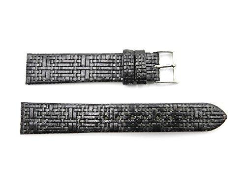 Women's Black Braided Leather Strap Watch - 2
