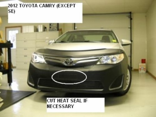 Lebra 2 piece Front End Cover Black - Car Mask Bra - Fits - 2012-2013 TOYOTA CAMRY Including HYBRID & XLE (Excludes SE model)