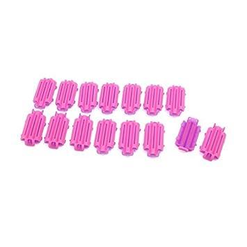 Maquillaje eDealMax 15pcs rosa púrpura de plástico de rizado de Pelo DIY Señora Styling Salon Clips