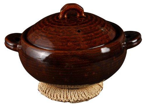 나가타니엔 다용 질그릇 (2-3명 용)((스노코)대자리 부착) 《아메》 NC-96