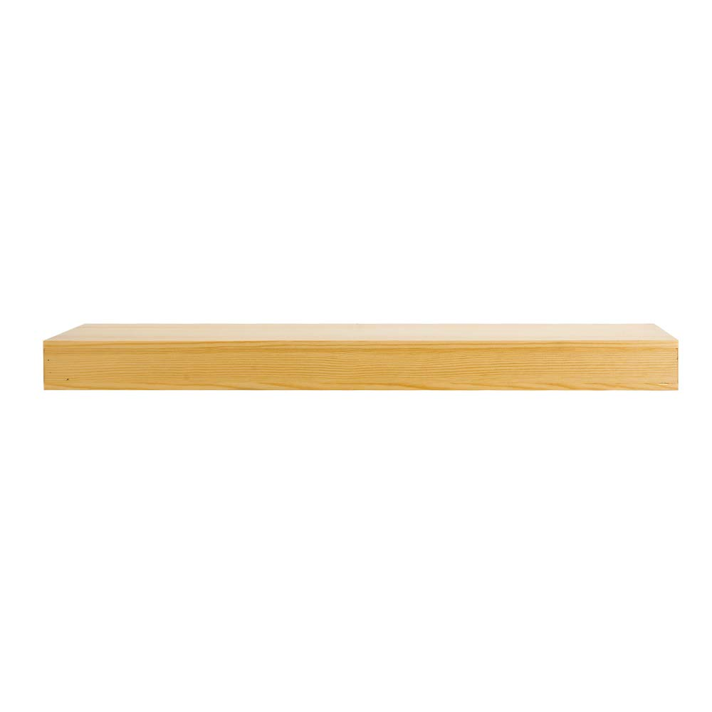 Display Ledge Shelf Storage with Invisible Blanket AHDECOR Natural Wood Deep Floating Wall Shelves 18 inch, Clear Coat Finish Solid Pine