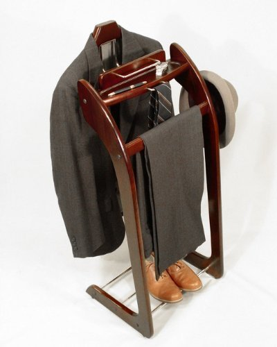 (Mens Executive Style Valet Suit Stand Clothing Coat Rack Clothes Organizer Racks VL16140 by)