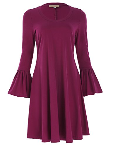 Jersey Deep V-Neck Dress - 6