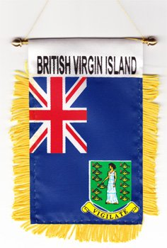 British Virgin Islands - Window Hanging - Virgin Fringed Islands