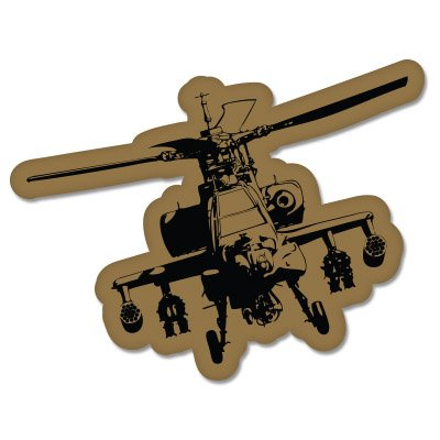 Military Helicopter Vinyl Sticker - Car Phone Helmet - SELECT SIZE
