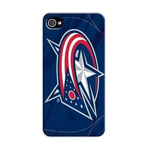Souvenir Nhl Columbus Blue Jackets Iphone 4/4S Case For Hockey Fans&Amateur