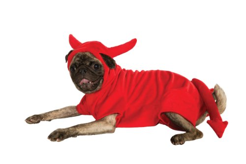 Rubie's Pet Costume, X-Large, Fleece Devil Dawg Costume Hoodie - Devil Costume For Dogs