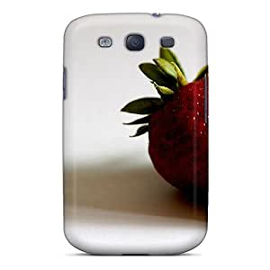 Galaxy S3 Case Cover - Slim Fit Tpu Protector Shock Absorbent Case (juicy Strawberry)