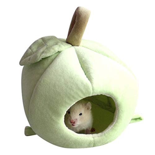 Price comparison product image Cute Plush Winter Warm Hamster Hedgehog Rat Squirrel Nest Bed House Guinea Pig Bed Nest Pad Cage Pet Supply Hamster Warm Nest For Rat Hedgehog Squirrel House Guinea Pig Sweet Room House (Green)
