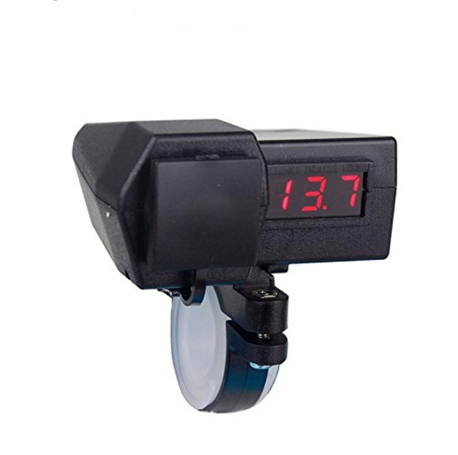 オートメーション怒って脚本家Yitengオートバイ GPS携帯電話  USB電源ソケット充電器+ グリーン電圧計 3.1A  USB2ポート