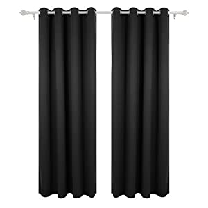 Blackout curtains on rod