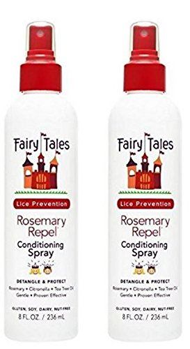 Fairy Tales Rosemary Repel Daily Kid Leave-In Conditioning Spray (8 Fl. oz) for Lice Prevention  - Pack of 2