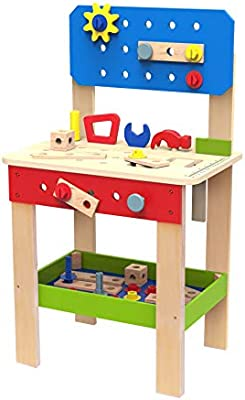 Sensational Toysters Wooden Tool Set And Workbench Station For Toddlers Cjindustries Chair Design For Home Cjindustriesco