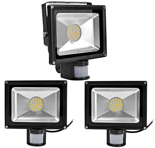 3X 30W SMD Foco LED con Sensor Movimiento,Proyector LED Exterior ...