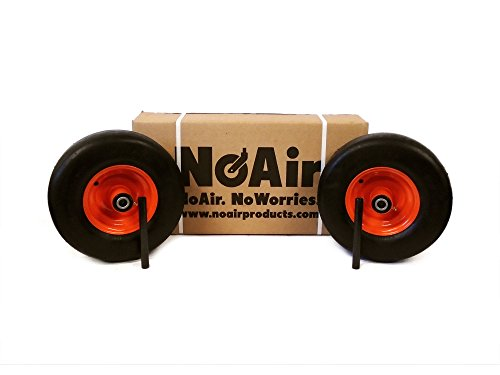- NoAir (2) Bad Boy Flat Free Wheel Assemblies 13x6.50-6 022-1050-00 Commercial Models