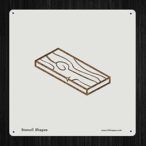 Wood Flooring Hardwood Lumber, Style 6419 DIY Plastic Stencil Acrylic Mylar Reusable - Hardwood Flooring Lumber