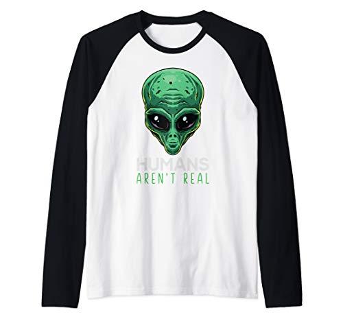 Humans Aren't Real Funny Alien Head Gift UFO