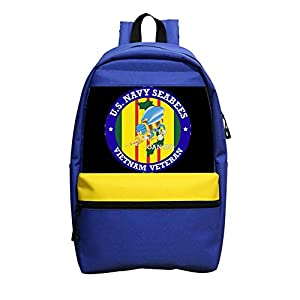 Cute U.S Navy seabees Classic Backpack Unisex Water Resistant School Rucksack Travel Backpack