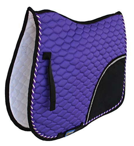 St. Charles Horse Quilted All Purpose English Saddle PAD Tack Trail Riding Purple 72F05
