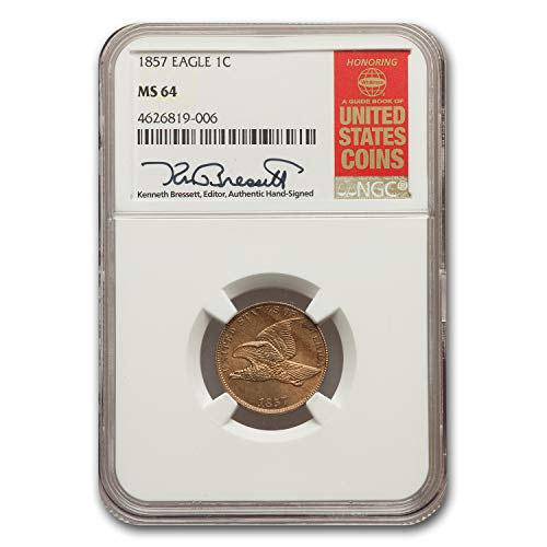 - 1857 Flying Eagle Cent MS-64 NGC Cent MS-64 NGC