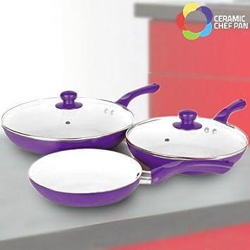 Bigbuy Sartenes Ceramic Chef Pan (5 Piezas) 3,4 kg: Amazon.es: Hogar