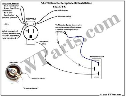 amazon.com: remote receptacle kit for lincoln sa-200: home improvement  amazon.com