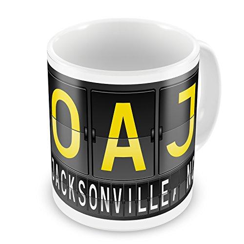 - Coffee Mug OAJ Airport Code for Jacksonville, NC - NEONBLOND