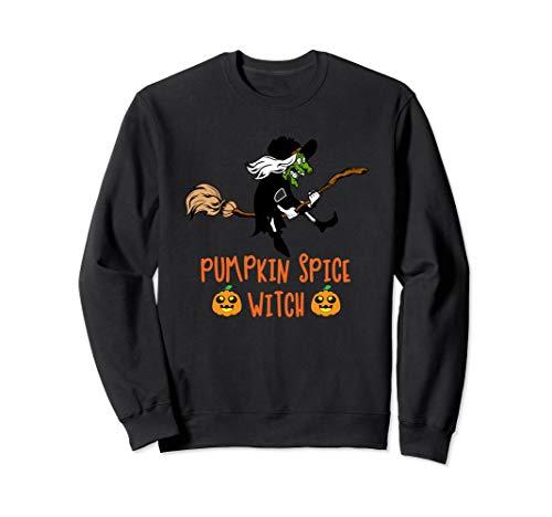 Pumpkin Spice Witch On Broomstick Sweatshirt