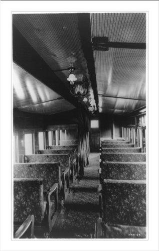 (Historic Print (L): Interior of first Pullman sleeper)