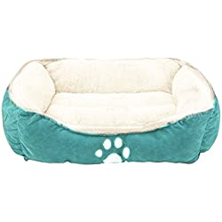"Sofantex Pet Line Beds Paw Print, Blue, 25"" L, Medium"