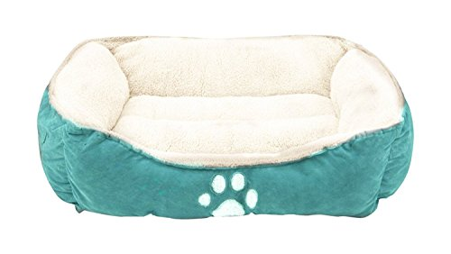 Felicite Pet Bed Fit Medium Sized Dog/Fat Cat, Machine Washable, Ultra Soft Pet Sofa,Dog bed - Blue-25in by Felicite Home