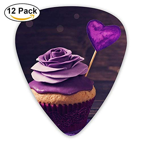 ts Cakes Valentines Day Purple Love Guitar Pick 0.46mm 0.73mm 0.96mm 12pack,Suitable For All Kinds Of Guitars ()